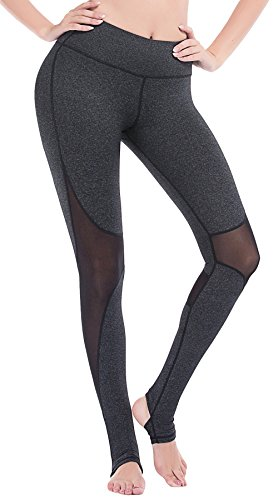 DeepTwist Womens Yoga Pants Mesh Active Stirrup Leggings Gym