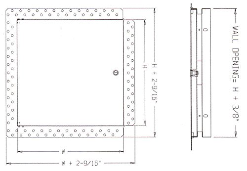 Z41616SCPC 16x16 Flush for Drywall DW-5040 Series Acudor