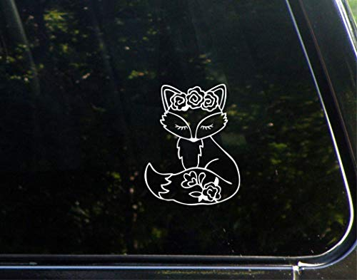 Sweet Tea Decals Cute Fox - 3 3/4