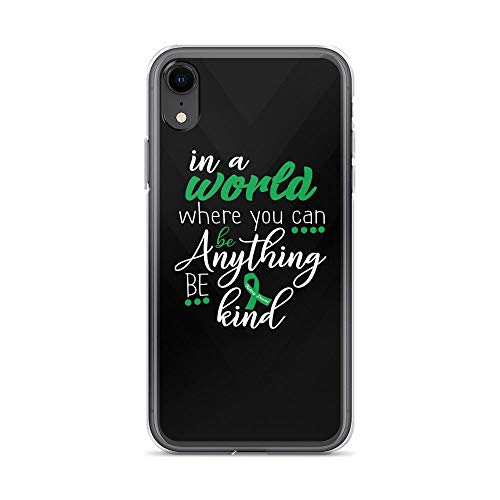 iPhone XR Pure Clear Case Cases Cover in The World Where You Can Be Anything Be Kind - Motivation Quote TPU Full Protective Slim Cover]()