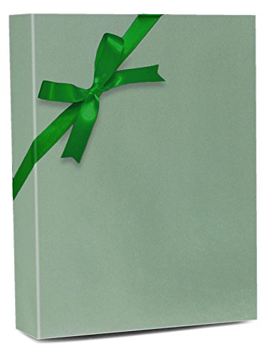 30'' X 100' Sage Green Pearlescent Gloss Gift Wrap by Paper Mart
