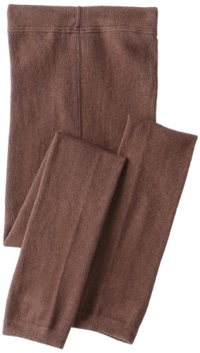 Country Kids Little Girls'  Organic Cotton Footless Tights 1 Pair, Chocolate, 1-3 Years ()