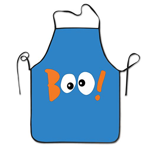 Household-items-Fly-shop Boo! Eyes-Halloween Apron, Super Cooking Chef Kitchen Aprons with Adjustable Bib Black for Women -