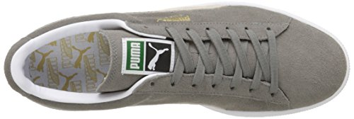 Gray Gris Sneakers steeple white Mixte Adulte Classic Basses Puma Suede HqfwF6