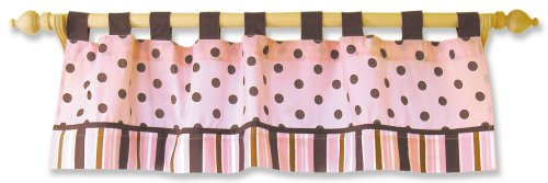 Trend Lab Maya Window Curtain Valance, Pink/Brown