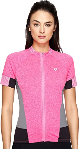 Pearl iZUMi Women's Select Escape Short Sleeve Jersey, Screaming Pink Parquet, Small