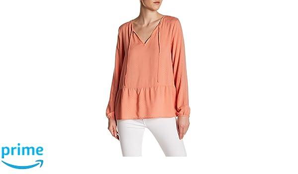 ea092afc5a75fc Sanctuary Lily Rose Ruffle Hem Blouse M, Rose at Amazon Women's Clothing  store:
