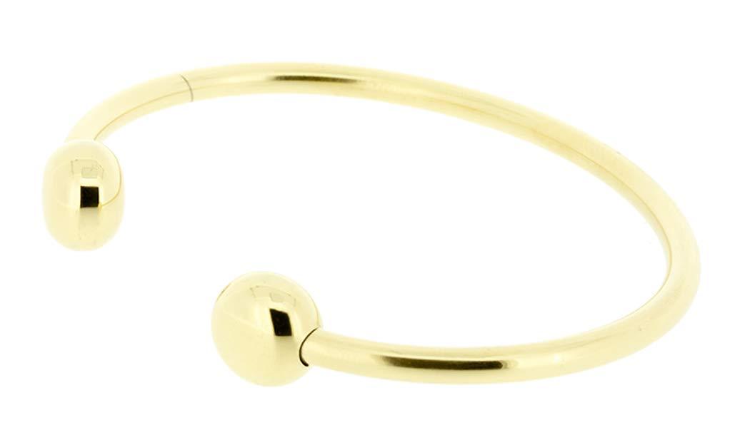 Q Ray Goldtone Standard Bracelet SIZE MEDIUM QRay Q.Ray Q-Ray