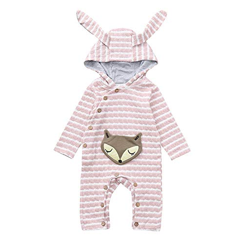 Amazon.com: G-real Winter Warm Baby Boys Girls Rabbit 3D Ear Zipper Hooded Romper Jumpsuit Outfits: Clothing