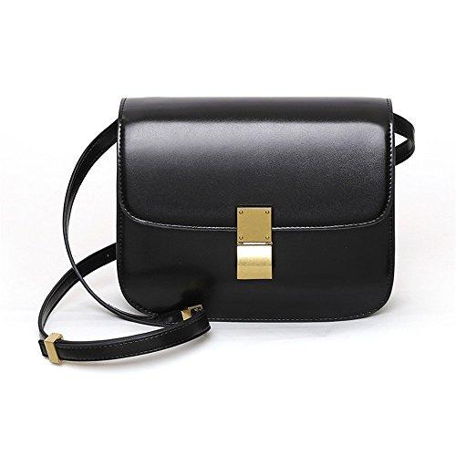 Women'S Bag Black Shoulder Bag Retro Slant Bag big Bag r7ZwqrY
