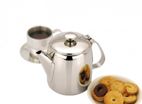 1 Litre (32oz) Stainless Steel Coffee / Tea Pot by Sunnex