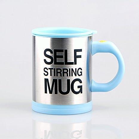automatico elettrico Lazy self Stirring mug automatico tazza di caffè latte miscelazione auto mescola tazza di caffè, Acciaio inossidabile, Green, 11.5*8.7*8.7cm Switty