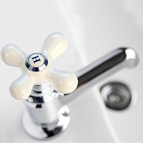 Danco Cross Arm Faucet Handle Porcelain Chrome 46004