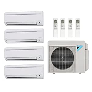 33 000 btu 17 7 seer daikin multi zone ductless mini split heat pump system 7k 7k. Black Bedroom Furniture Sets. Home Design Ideas