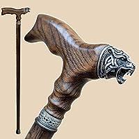 Fashionable Walking Canes for Men - Celtic Bear - Carved Men's Cane - Fancy Stylish Wooden Walking Sticks