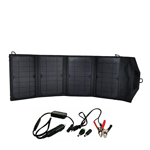Instapark Mercury27 27-watt Compact Foldable Solar-powered Battery Charger with 12V Output for Instapark Mars20S, Powerpack Series & Wagan Power Dome Series and Dual USB Ports by Instapark