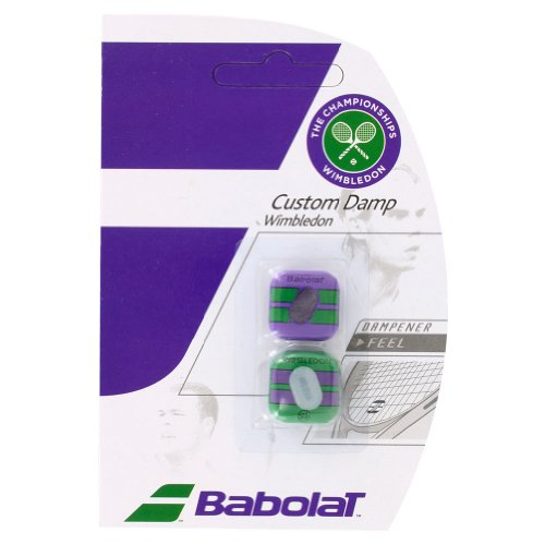 Babolat Wimbledon Custom Damp Vibration Dampener (Purple/Green)