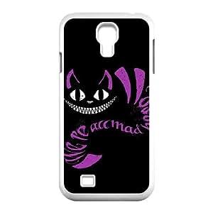 We're All Mad Here Purple Black Samsung Galaxy S4 Case White