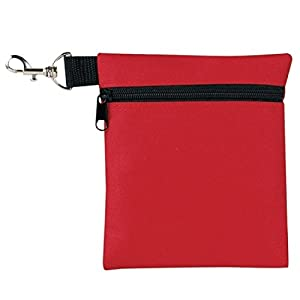 Golf Tee Pouch, BuyAgain 5.62 X 6.87 Inch Professional Zipper Golf Tee / Ball Pouch Bag With Metal Lobster Claw Clip.