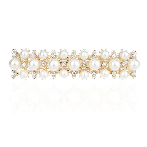 Price comparison product image IPINK Rhinestone Crystal Hair Clip Pearl Barrette Hair Accessories