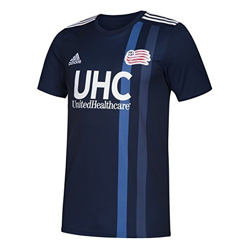 fan products of Youth New England Revolution Soccer Jersey Adidas Home Replica Jersey (YTH (14-16))