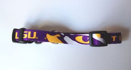 Louisiana State LSU Tigers Adjustable Pet Dog Collar All Sizes (Small)
