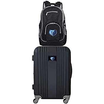 Image of Denco NBA Memphis Grizzlies 2-Piece Luggage Set2-Piece Luggage Set, Black, 21 Luggage
