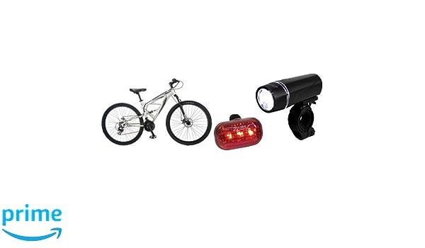 mountain bike 5led headlight black  butterfly tail light bicycle accessorieR.DE