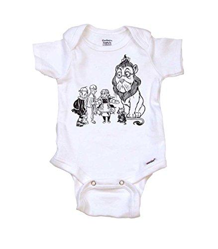 Wizard of Oz Baby Onesie Organic, 0-3 mo, Organic White