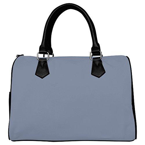 Jasonea Women Boston Handbag Top Handle Handbag Satchel Stonewash Color Accent Basad153982