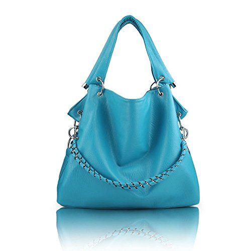 2016 new Korean Stylish Soft leather bag lady's Backpack – Black - 7