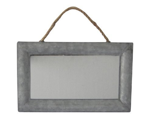 Silver Cheung/'s Cheungs FP-3598 Rectangular Mirror with Galvanized Metal Frame and Hanging Rope