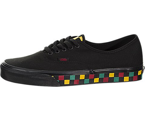 Vans Unisex Authentic  Black Canvas Skate Shoes 10