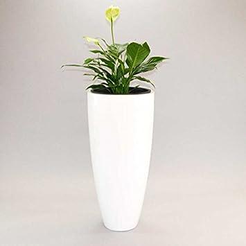 Pflanzkübel Blumenkübel Blumentopf Fiberglas rund konisch D30xH60cm ...
