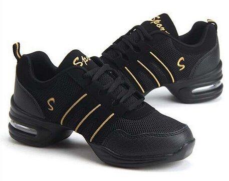 Dance women Shoes Gold for woman salsa 5 size sneakers Jazz 5 Black 2 shoes 6 qrTw1qp