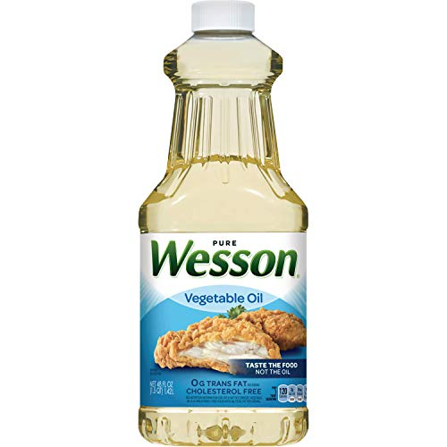 (WESSON Pure Vegetable Oil, 0 g Trans Fat, Cholesterol Free, 48 oz.)