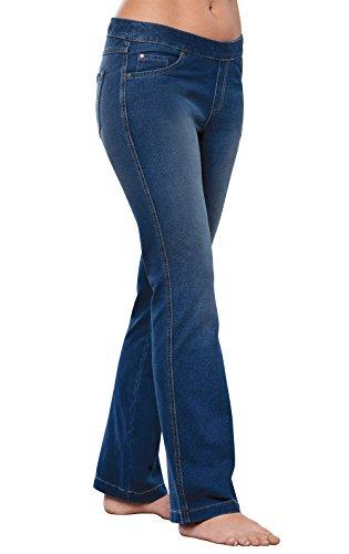 PajamaJeans Women's Tall Bootcut Stretch Knit Jeans, Bluestone, X-Large / - Women Pull On Jeans