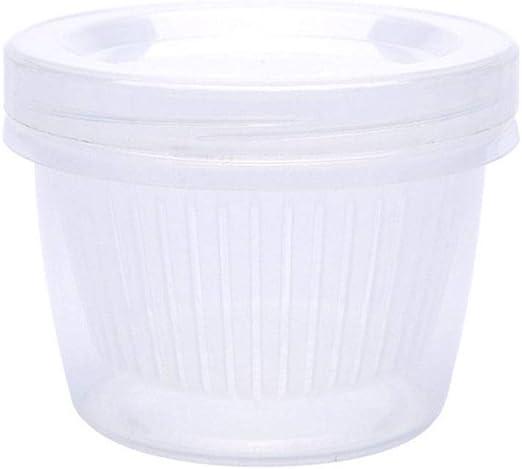 Caja de almacenamiento para frigorífico con drenaje redondo, caja de almacenamiento de jengibre, ajo, cebolla, comida y nevera: Amazon.es: Hogar