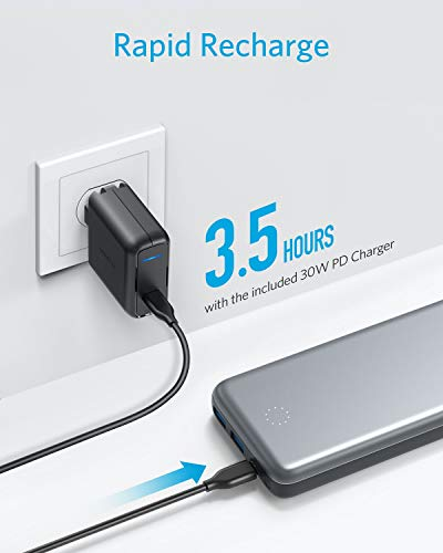 Anker PowerCore+ 19000 PD Hybrid Portable Charger and USB-C Hub with Included USB-C Wall Charger, Power Delivery Power Bank Compatible with Nexus 5X / 6P, iPhone Xs/XR/X / 8, MacBooks, and More by Anker (Image #5)