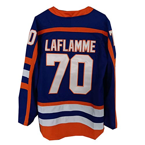 8b4910ac0 AIFFEE Men's #70 Laflamme Ice Hockey Jersey Blue Color Size S M L XL XXL  XXXL Hiphop Shirts for Party (L)