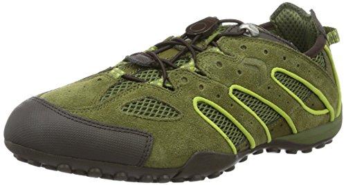 GEOX Respira U Snake J Mens Sneaker Green U4207J 02214 CB33S mhXJsHrRs