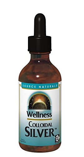 SOURCE NATURALS Wellness Colloidal Silver 45 Ppm, 4 Fluid Ounce