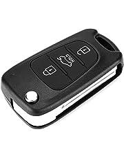 Remote Key Case - Vobor 3 Button Flip Remote Key Fob, Afstandsbediening Autosleutel Cover Compatibel met KIA Rondo 2006-2011 Sportage 2010-2013 Soul 2009-2013 Rio 2011-2013