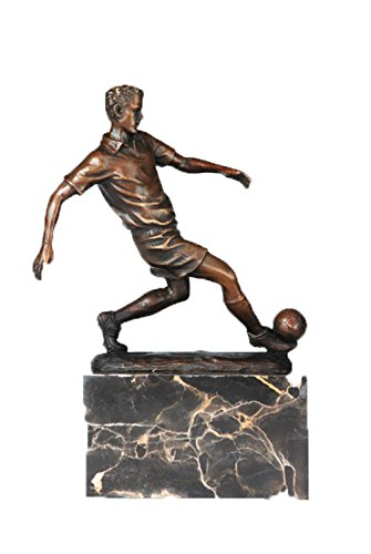 (Toperkin Manual Statue Bronze Would Cup Football Player Sculpture TPE-737)