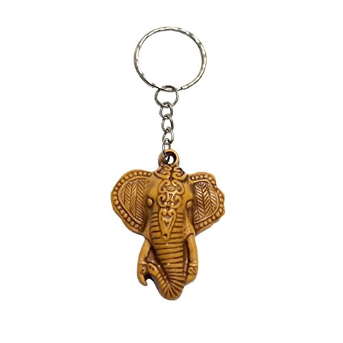 Hot Sale! Thailand Hand made Creative Personality Cute Elephat Fashion Faux Wooden Key Chain Key Pendant (Style1)