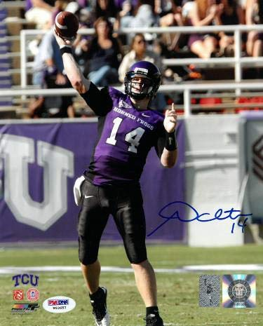 Signed Andy Dalton Photo - 8x10 Hologram passing blue sig) - PSA/DNA Certified - Autographed College Photos