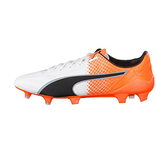 Puma Unisex Adults' Essllthiifgq4 Football Boots Puma White-Puma Black-Shocking Orange SJGyL