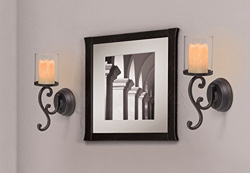 Amazing Amazon.com: Candle Impressions Flameless Candle Wall Sconces W/ Timer And  Duracell Batteries Included   Set Of 2: Home U0026 Kitchen