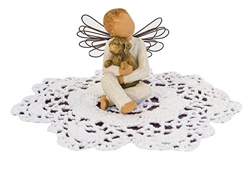 Willow Tree Angel Figurine with Doily (Angel of - In Loving Memory Music Box