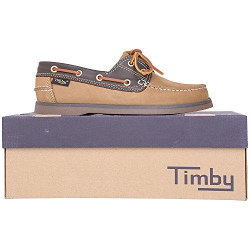 Timby - Náuticos de Piel Vuelta para hombre marrón 1830 Tan